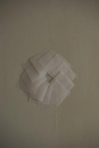 cirkel van calqueerpapier en draad ∅ 35cm  2011
